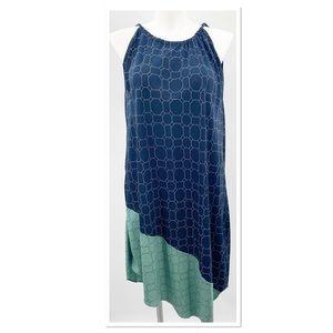 RACHEL Rachel Roy Dress Blue Aqua Asymmetrical Lg